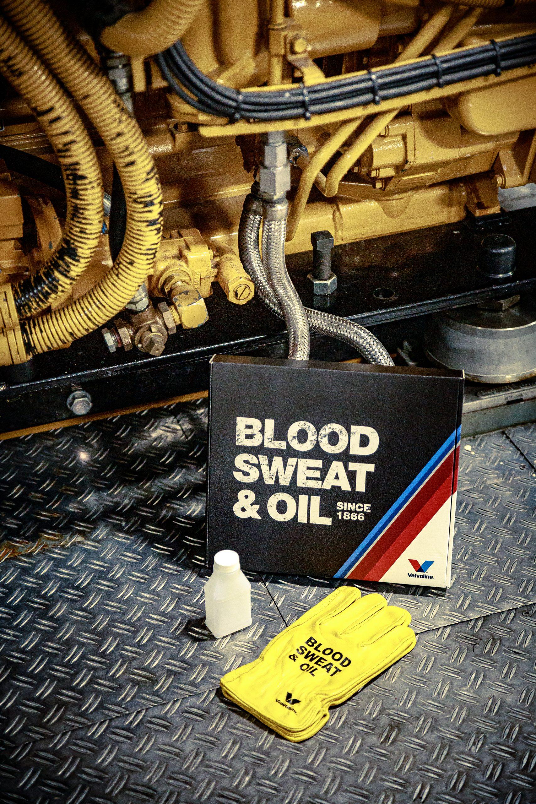 valvoline blood sweat and oil